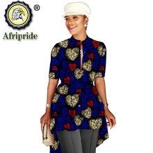 Африканские рубашки для женщин блузка одежда с принтом Анкары