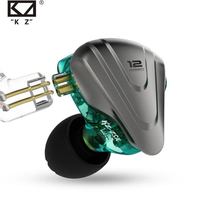 KZ ZSX Metal Earphones 5BA+1DD Hybrid technology 12 driver HIFI Bass Earbuds In Ear Monitor Speaker Noise Cancelling Headset
