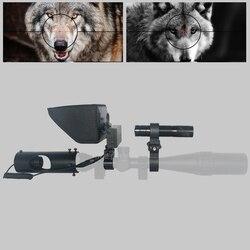 Nuevo francotirador de caza al aire libre óptica visión nocturna Riflescope táctico rifle alcance con cargador de batería LCD y linterna IR