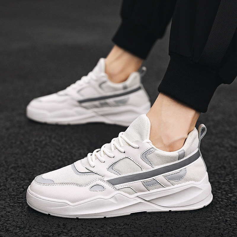 New Male Shoes 2020 Reflect Light Ventilation Low Help Trend Sneakers Leisure Time Skate Shoes Autumn Tenis Masculino Adulto