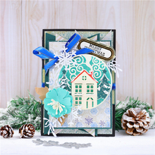 Eastshape Christmas Dies House Frame Metal Cutting Dies 2019 for Card Making Scrapbooking Die Embossing Cuts Stencil Craft Dies lace strip photo frame metal cutting dies for scrapbooking dies new 2020 stencils dies embossing die cuts card making craft dies
