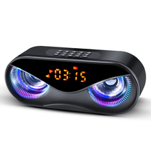 M6 Speakers Cool Owl Design  LED Flash Wireless Portable Bluetooth Speaker Support Select Songs By Number With FM Alarm Clock