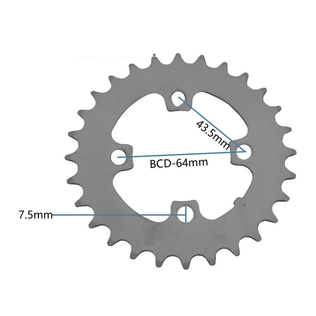 Fine Workmanship Round Disc Chainring Sprocket Wheel Cycling Component Parts MTB Bike Bicycle Strong Hardness
