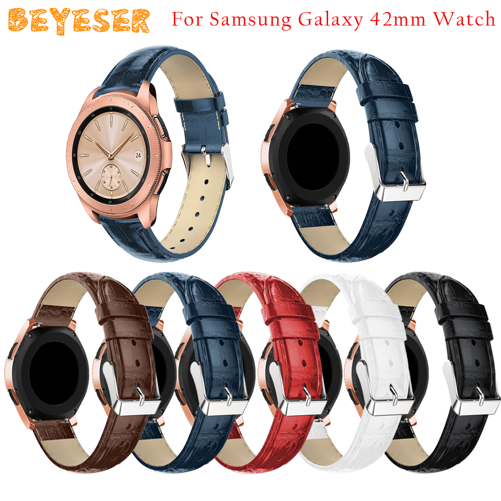 Leather watch strap For Samsung Gear Sport/Gear S2 Watches bands Replacement For Samsung Galaxy Watch Active 42mm bracelet Strap