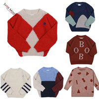 2019 New Autumn Winter BC Brand Kids Sweaters Boys Girls Fashion Print Knit Pullover Baby Children Cotton Tops Clothes