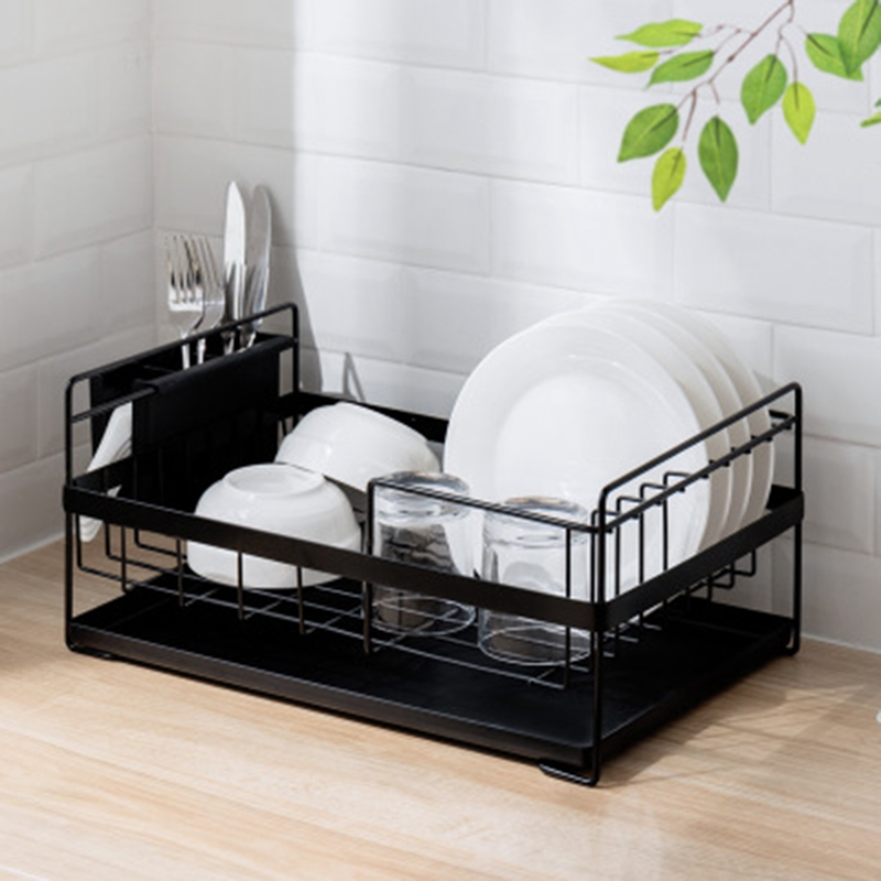 Kitchen Storage Organizer Dish Drainer Drying Rack Kitchen Sink Holder Tray For Plates Bowl Cup Tableware Shelf Basket White|Racks & Holders| |  - title=