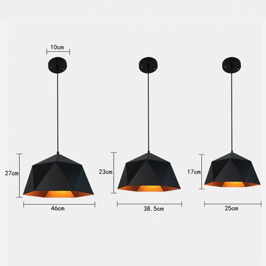 Vinatge Loft LED Pendant Light Industrial Decoration Iron Pendant Lamp Led Home Hanging Lamp Lighting Kitchen Fixtures Luminaria in Pendant Lights from Lights Lighting