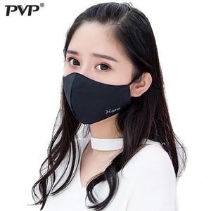 Image 1 - PVP * כותנה שחור פה פנים אנטי אבק הדפסה מסנן Windproof פה מופל עבור גברים נשים שחור אופנה חם