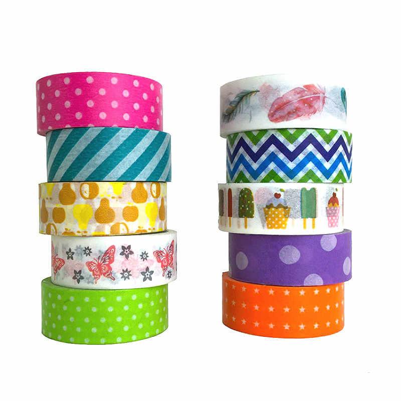 1 Pcs Warna Solid Sederhana Washi Masking Tape Lengket Kertas Dekoratif Tape Set Dekorasi DIY Alat Tulis Kantor Scrapbook
