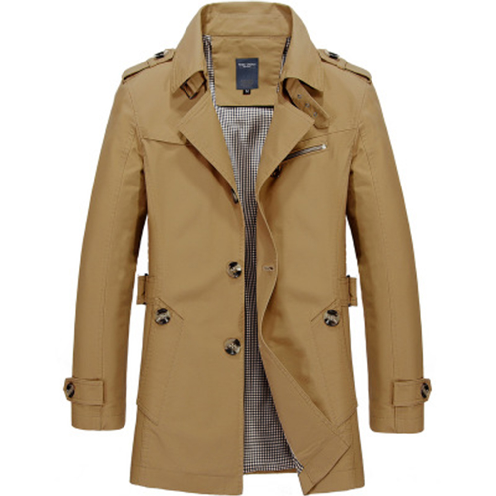 Men Jacket Coat Fashion Trench Coat New Spring Brand Casual Fit Overcoat Jacket Outerwear Male