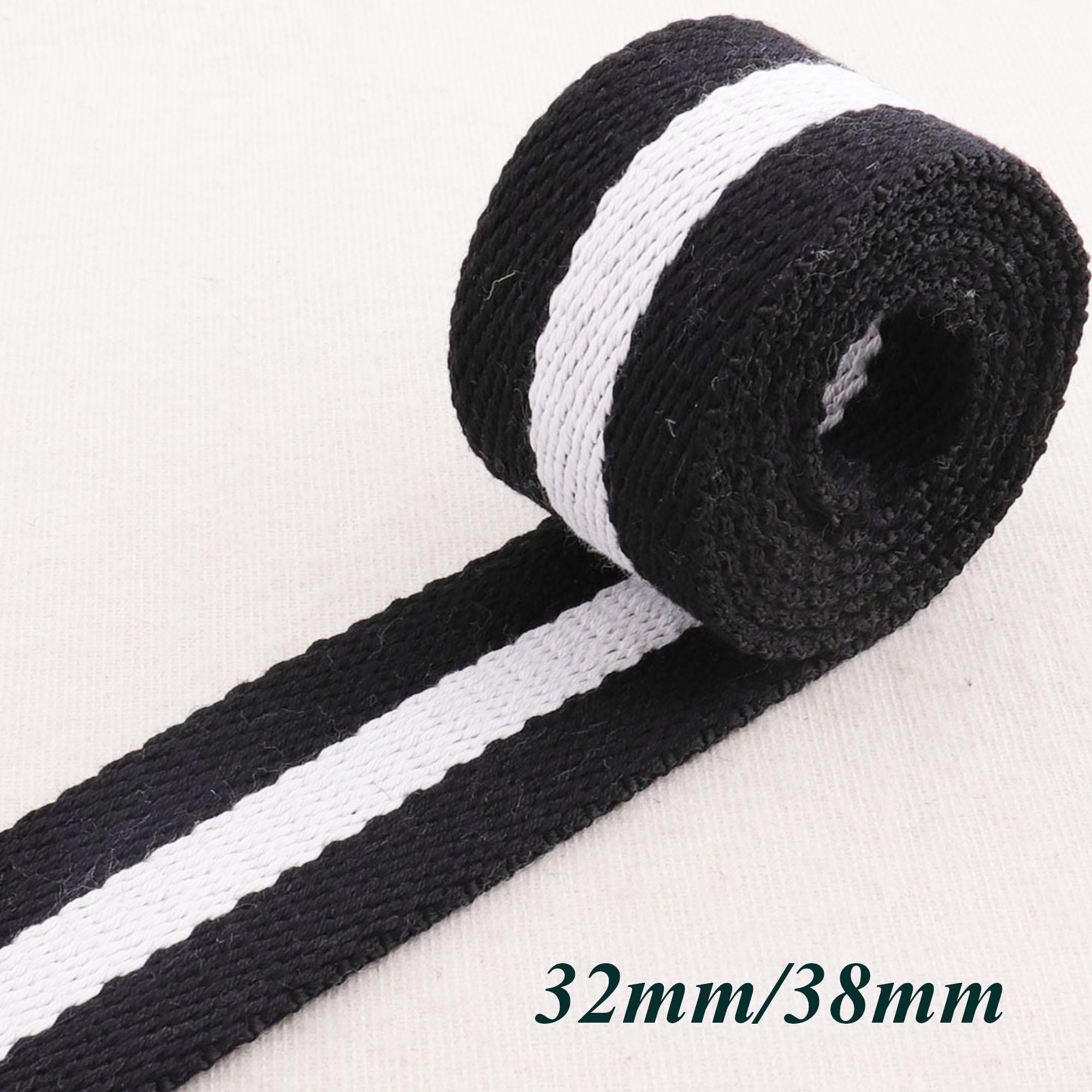 38mm Cotton Canvas Webbing Strap Tape Black