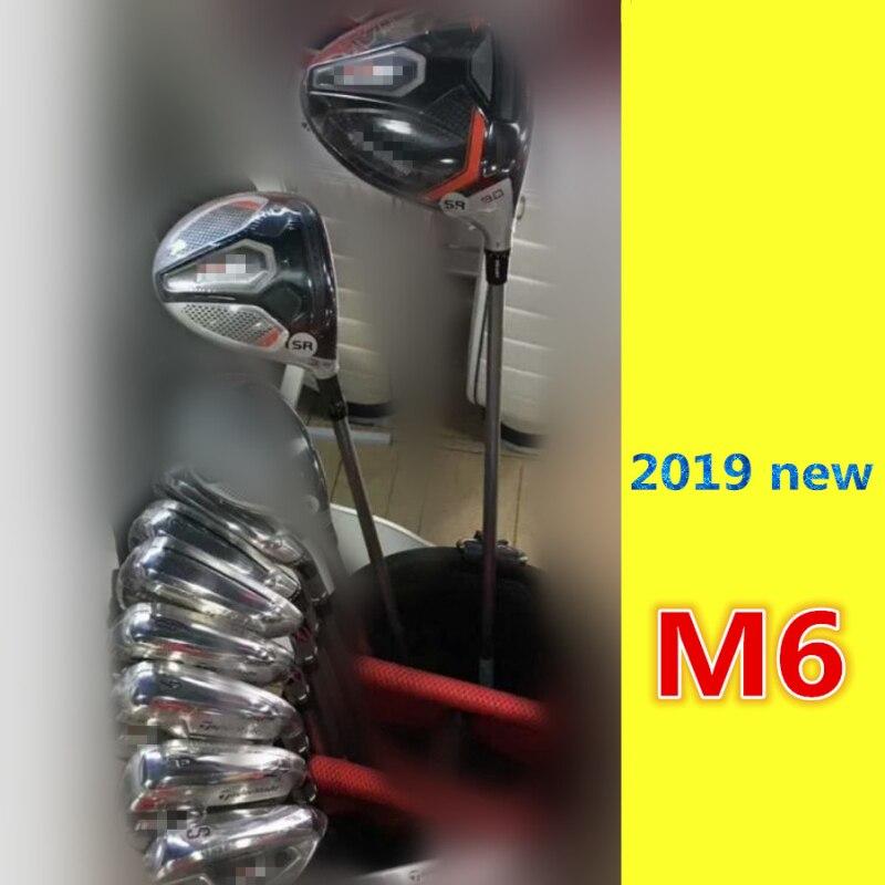 M6 Golf ensemble complet M6 Golf Clubs pilote + Fairway Woods + fers + putter Graphite/arbre en acier avec couvre-tête sans sac