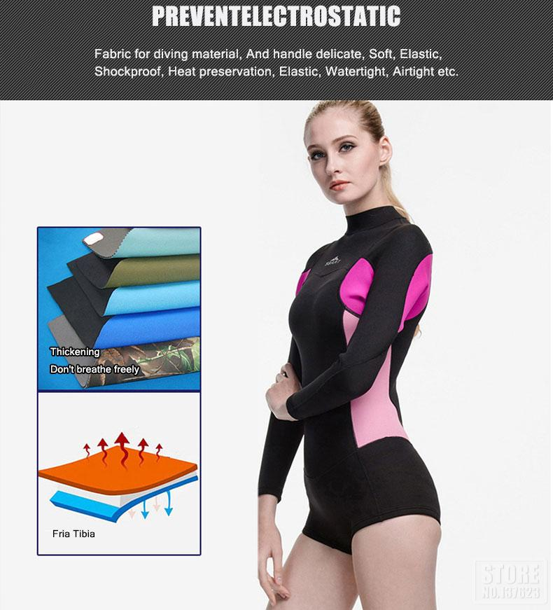 2mm Frauen Shorty Neoprenanzug Kite Surfen Schnorcheln Scuba Tauchen