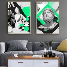 Портрет zeus vaporwave скульптура холст фотообои граффити искусство
