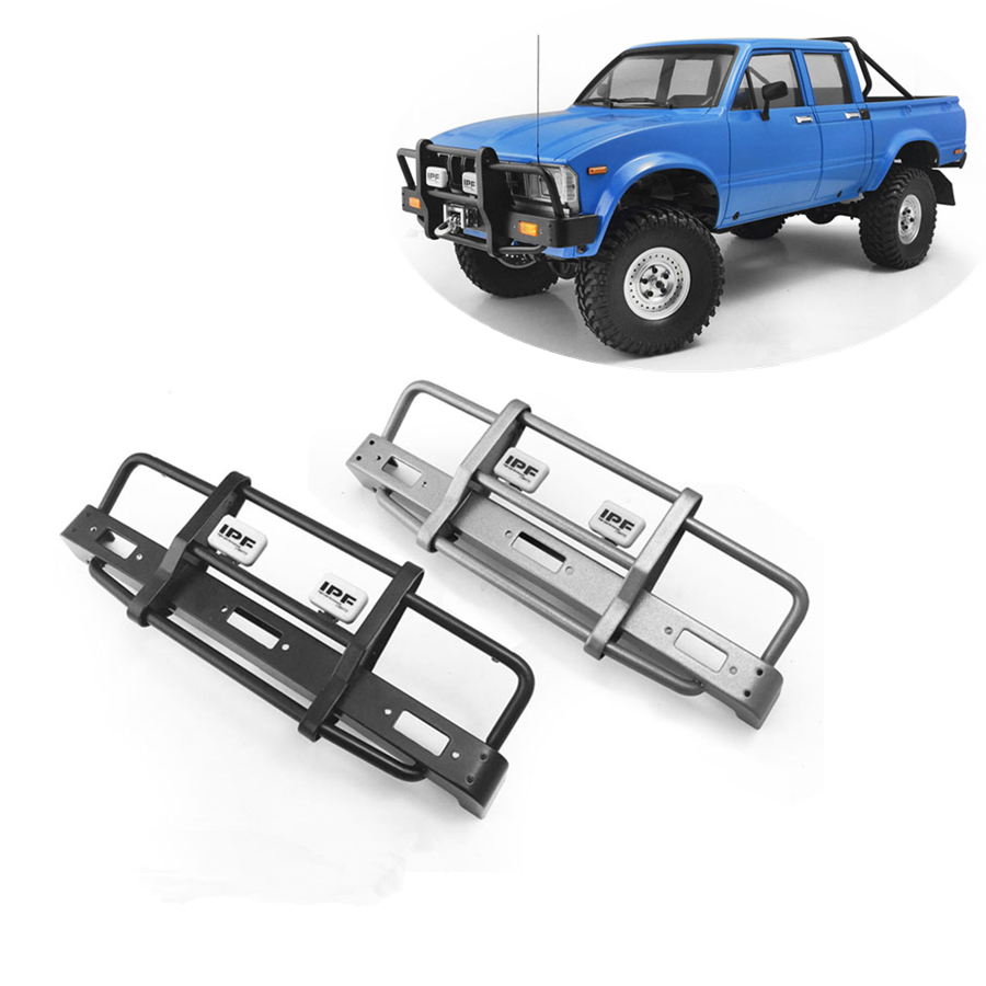 RC 1//10 Scale METAL FRONT BUMPER For TOYOTA LC70 Fits Traxxas TRX-4 GUN METAL