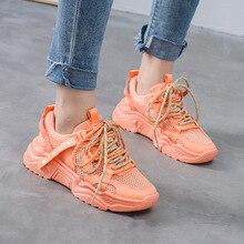 Women Shoes 2020 Summer New Fashion Casual High Quality Women's Sneakers Women's Vulcanize Shoes Comfortable Thick Bottom Mesh