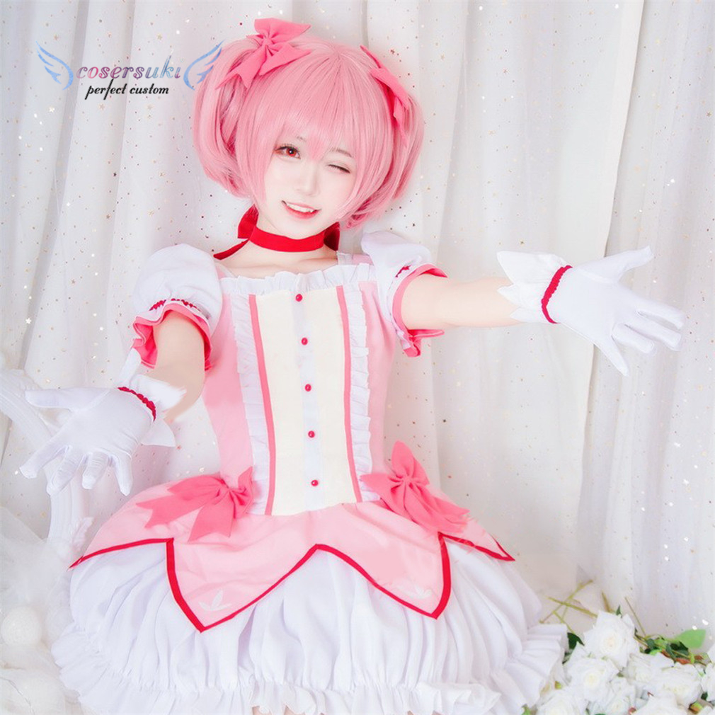 Puella Magi Madoka Magica Kaname Madoka Cosplay Costume Stage Performance Clothes , Perfect Custom for You !