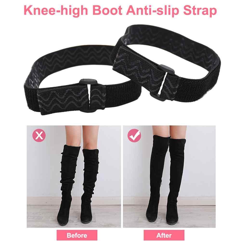 Botas correa elástica Mujer señora fijación zapatos Anti caída accesorios elástico ajustable interior cinta adhesiva antideslizante
