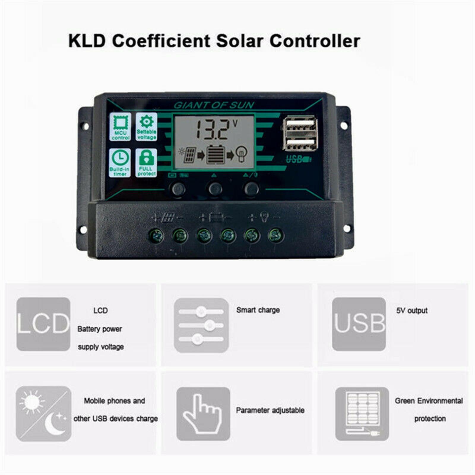 Preto 200w painel solar kit 12v controlador