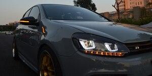 Image 5 - VWGolf ため 6 ゴルフ 6 MK6 GTI6 Rline ダイナミックウインカーサイドミラーインジケータ R20 Led ターン信号光トゥーランボラのパサートの襟