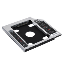 jcx Aluminum 9.5mm 2nd HDD Caddy SATA To SATA 3.0 For Laptop DVD/CD-ROM Optical Bay 2.5 HDD SSD Case 2nd hdd caddy 9 5mm sata to sata hard drive adapter for laptop universal cd dvd