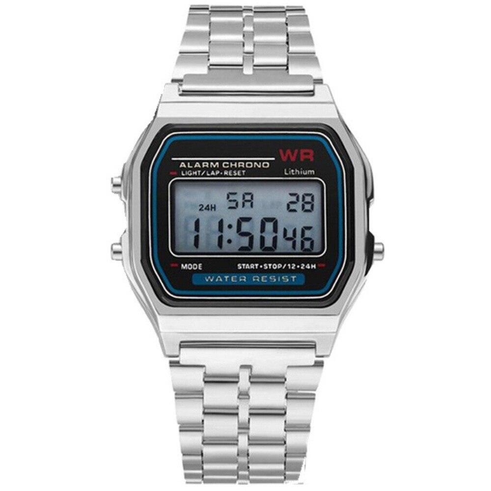 СВЕТОДИОДНЫЙ Цифровой Водонепроницаемый Кварцевые наручные часы платье золотые наручные часы для женщин мужчин s часы лучший бренд класса ...