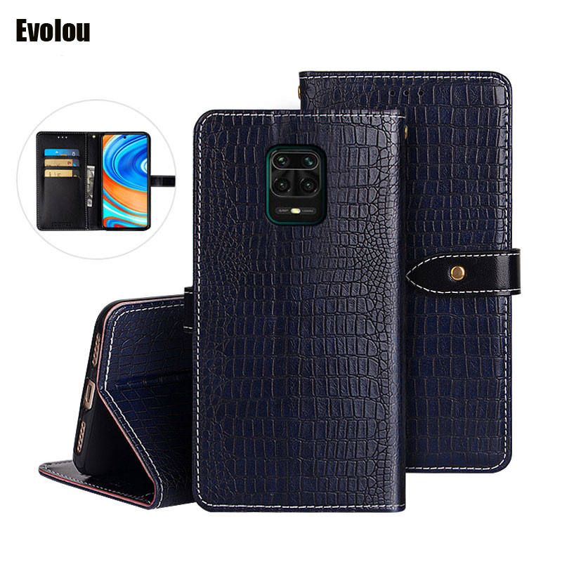 Retro Flip Leather Case for Redmi Note 9S 9 Pro Max K30 Pro Wallet Card Slot Stand cover for xiaomi 10 Pro Black Shark 3 cover(China)