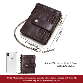 The new men's leather wallet RFID anti-theft brush wallet multi-card bit crazy horse leather coin purse