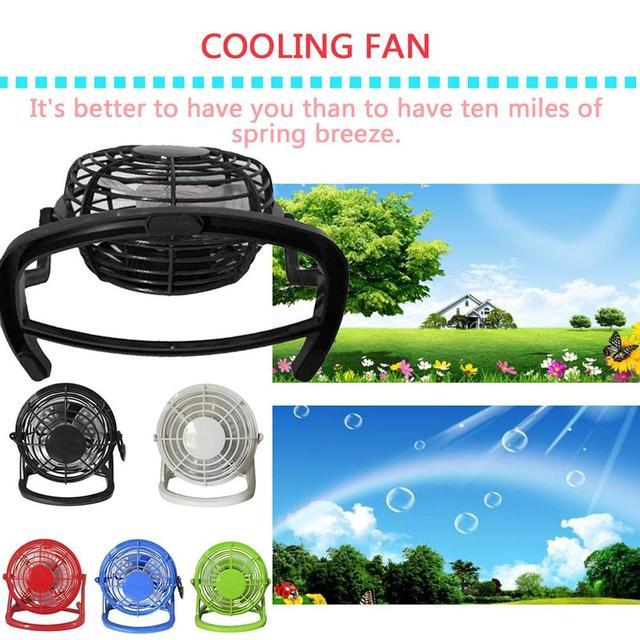 USB Gadget Portable USB Mini ventilateur petit bureau 4 lames refroidisseur ventilateur de refroidissement Super muet silencieux PC Portable ordinateur Portable ventilateur