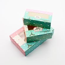 10 PCS Paper Gift Box Wedding Candy Boxes Party Favor Birthday Cake Packaging Window Lover Heart Hand Made