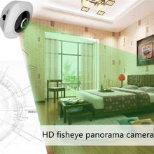 360 Degree VR 3D Wireless WiFi Wide Angle HD Panoramic Camera 960P-130 Megapixel Indoor Camera Portable(China)