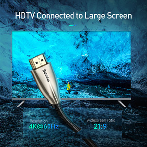 Image 2 - Baseus di Alta Velocità V2.0 Cavo HDMI 4K Video Cavo Per La TV Monitor Digitale Splitter PS4 Swith Box Proiettore HDMI filo di Cavo di 5M