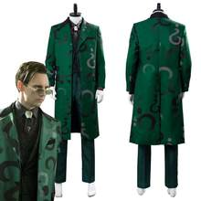 Gotham temporada 5 the riddler cosplay edward nygma traje uniforme completo terno verde cosplay traje para adulto(China)