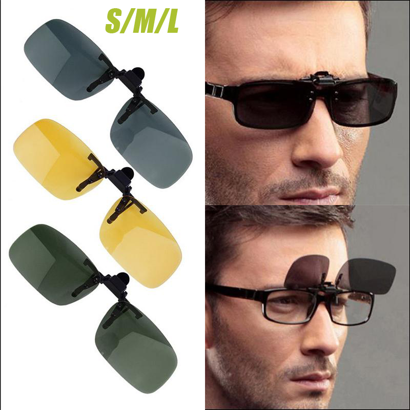 New Polarized Driving Cycling Fishing Glasses Night Vision Day Time Clip-on Lens Sunglasses Glasses image