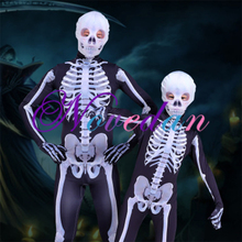 Halloween Cosplay Costumes Skeleton Clothing Role Playing Adult Parent-child Clothing Tight Bodysuit