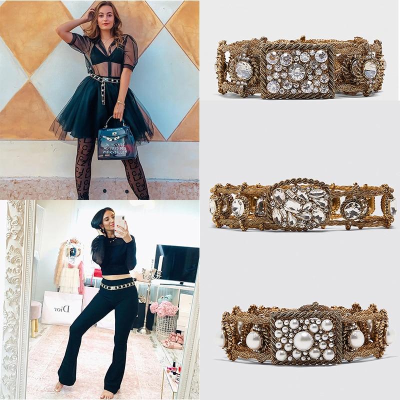 Women Black Leather Western Cowgirl Waist Belt Metal Buckle Waistband New Hot Belts For Women Luxury Designer Brand