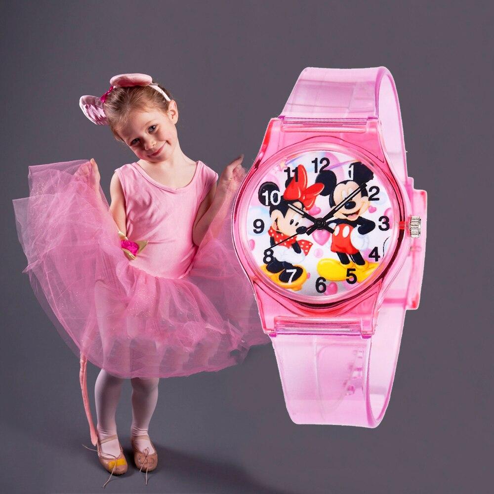 Kids Watches Lovely Minnie Children Girls Gift Silicone Women Cartoon Children Watch Ladies Watch Relogio Infantil Zegarecy