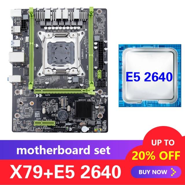 Kllisre X79 motherboard set with Xeon E5 2640 LGA 2011 support DDR3 ECC REG memory ATX USB3.0 SATA3 PCI E NVME M.2 SSD