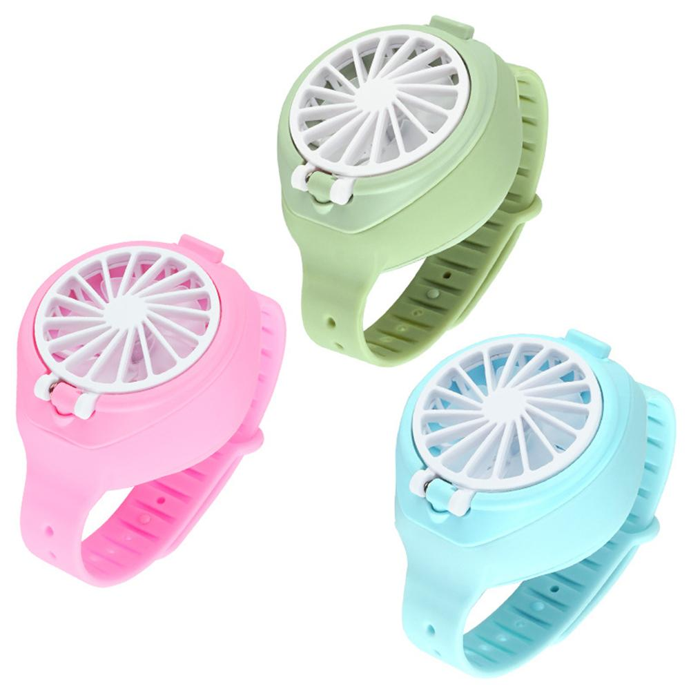 USB Rechargeable Fan With Comfortable Wrist Strap Portable Mini Fan Watch-Shaped Fan Control For Indoors Or Outdoors Traveling