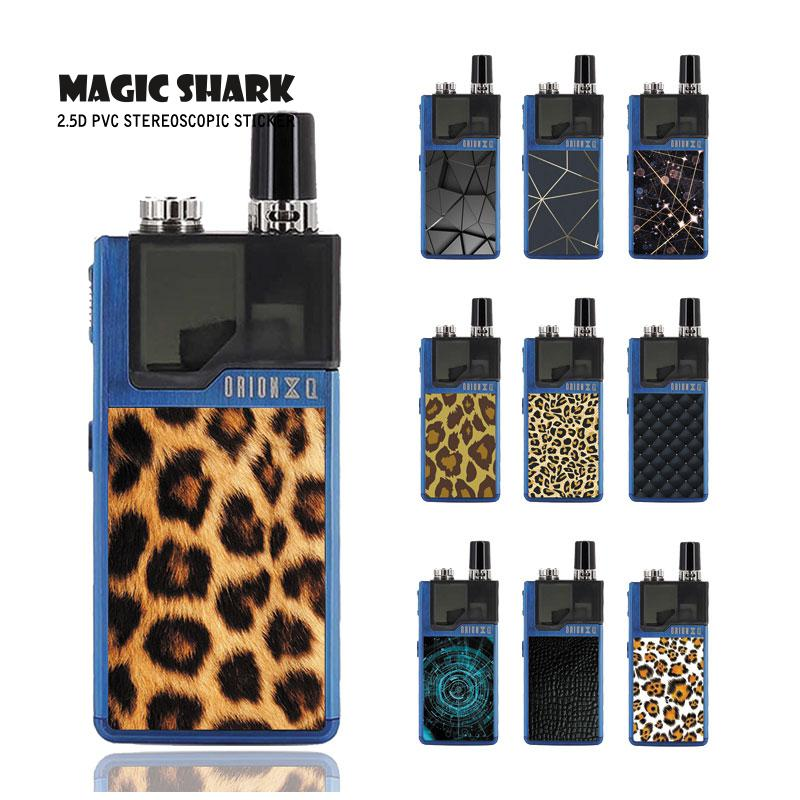 Magic Shark Leopard Snake Print Bling Cellen Ultra Dunne 2.5D PVC Skin Cover Case Sticker Film voor Verloren Vape Orion 021-030