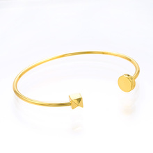Fine simple Geometry Open Bangle tiny cuff bracelet  Jewelry Bangle for Women Girls Party fashion gift fine simple geometry open bangle tiny cuff bracelet jewelry bangle for women girls party fashion gift