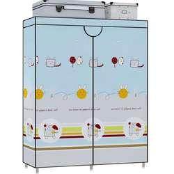 Bez instalacji składana szafa nowoczesna rodzina sypialnia tkanina sztuka szafka cała stalowa rama wynajem pokój prosty dormitorium tkaniny Ward