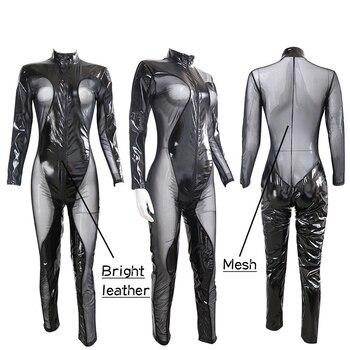 Apparel Underwear Bodysuit Lingerie Corset Belt Bondage Sexy Leather Mesh by So Feminine Bright Noenname_null 302413317