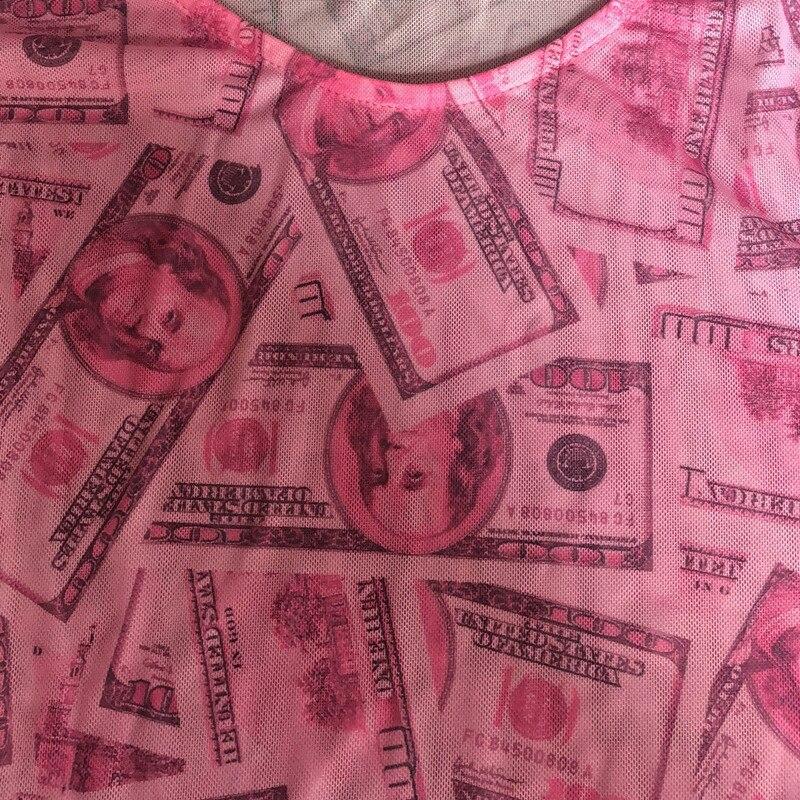 Joskaa Pants Outwear Bodysuit Mesh-Print Night-Club Long-Sleeve Party 2pieces-Set Fashion