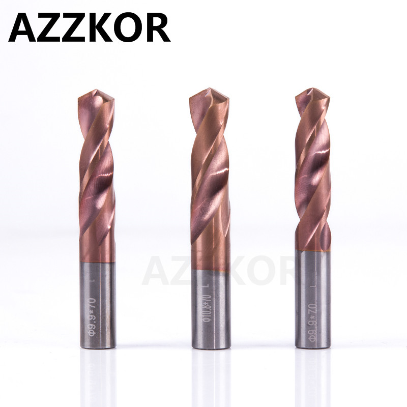 Carbide Alloy Tungsten Steel Twist Drill Super Hard Stainless Bit Straight Handle Solid Monolithic Drill For Commission