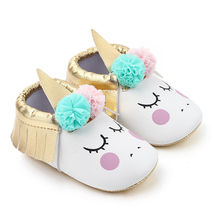 2019 Fashion 0-18M Birthday Baby Shoes Pu-leather Soft Botto