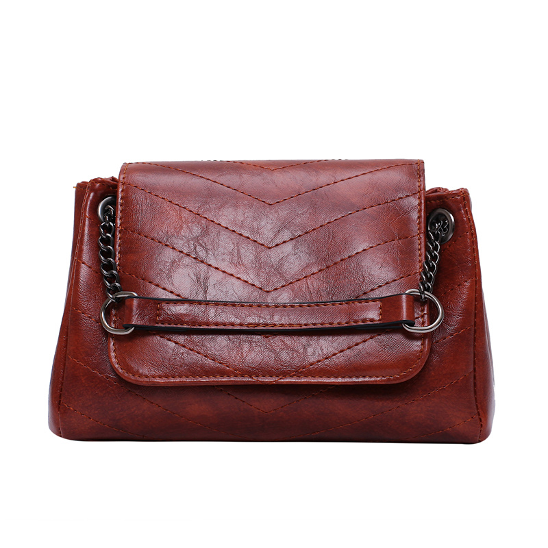 Solid Color Chain PU Leather Shoulder Bags For Women 2019 High Quality Crossbody Messenger Bag Lady Handbags Hand Bag 5