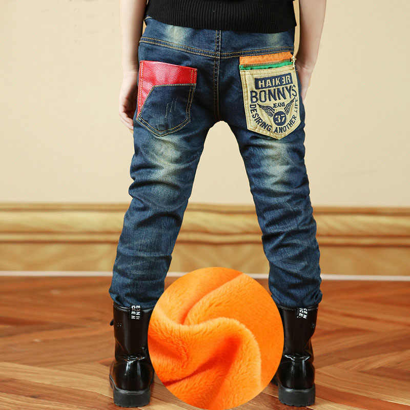 2019 New Boys jeans Spring Autumn with pocket patchwork style good quality lower price kids jean