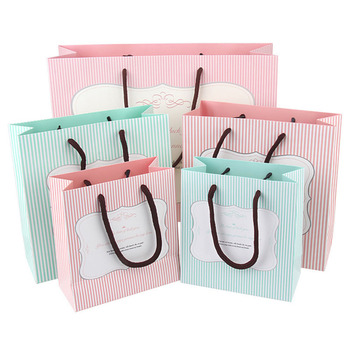 Bolsa de regalo a rayas para llevar bolsas de compras, bolsas de...