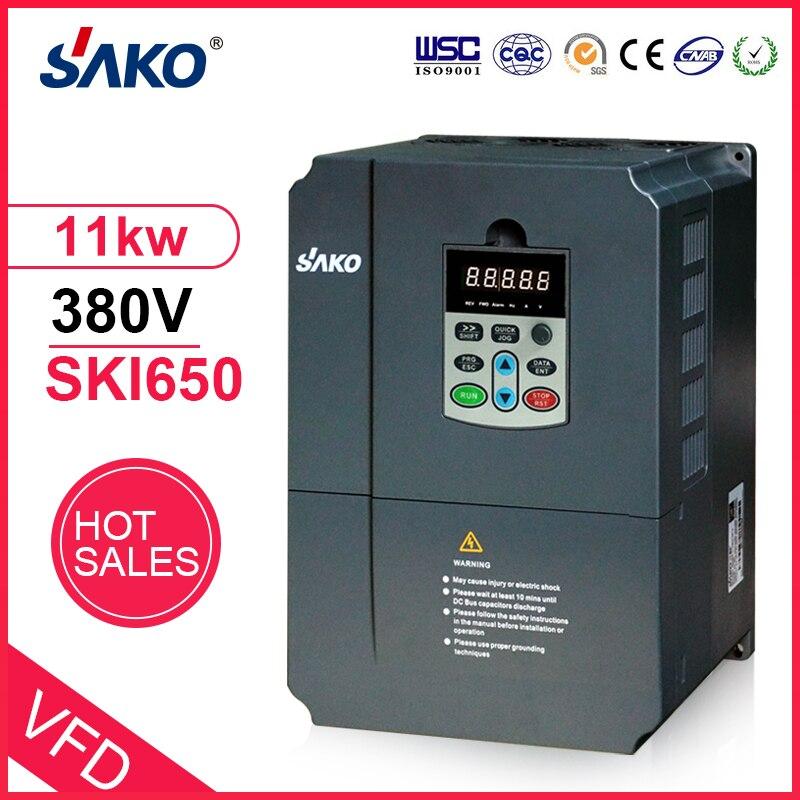Sako 380V 11KW VFD wysokowydajny fotowoltaiczny falownik pompy solarnej AC potrójny (3) fazowy